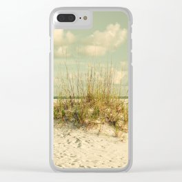Tropical Beach Vibes Clear iPhone Case