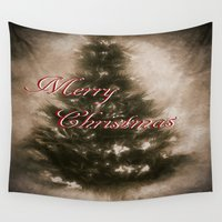 old school Wall Tapestries featuring Old School Christmas  by gypsykissphotography