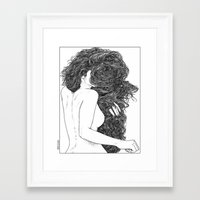apollonia Framed Art Prints featuring asc 590 - Le peigne (Combing her hair) by From Apollonia with Love