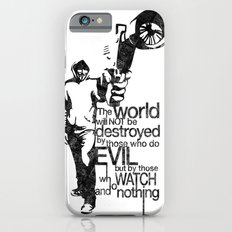 Anonymous and typography quote iPhone 6 Slim Case