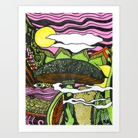 Trippy in Color Art Print