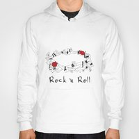 rock n roll Hoodies featuring Rock 'N Roll by Estaschia Cossadianos