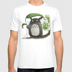 Totoro  Mens Fitted Tee MEDIUM White