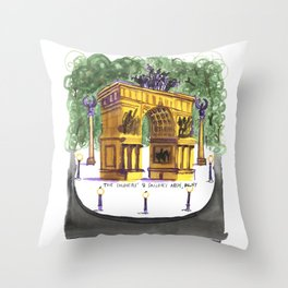 Soldiers and Sailors Arch Throw Pillow
