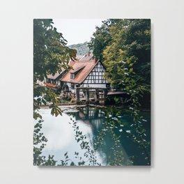 Blautopf Bavaria Germany Metal Print