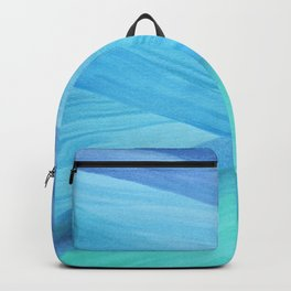 Blue Abstract Lines Backpack