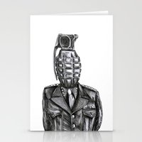 general Stationery Cards featuring General Damage by ronnie mcneil