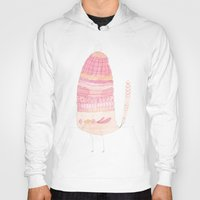 macaroon Hoodies featuring Macaroon Layers Hat Bird by fluximagery