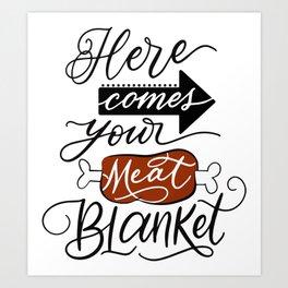 Meat Blanket Art Print