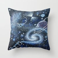 science Throw Pillows featuring Science by Elisa Gandolfo