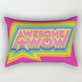 Awesome. Wow. Rectangular Pillow
