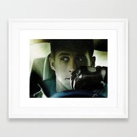 ryan gosling Framed Art Prints featuring Ryan Gosling - Drive by Helena McGill