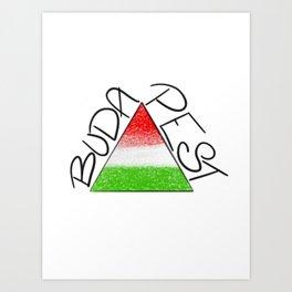 BUDAPEST Triangle Art Print