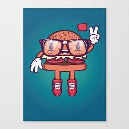 Hamburger - Food Series Guys Canvas Print
