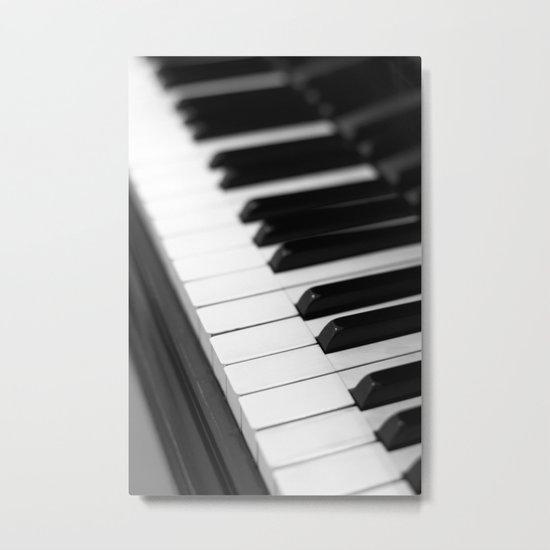 piano keys  black and white Metal Print