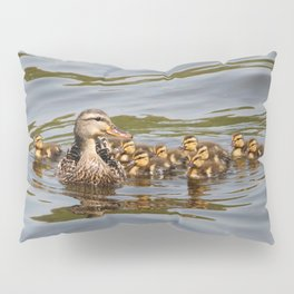 Mallard duck and ducklings Pillow Sham