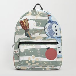 Winter Snowman and Cardinal Backpack