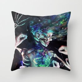 Star Dust Stitching Color Throw Pillow