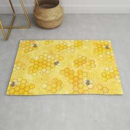 Meant to Bee - Honey Bees Pattern Rug
