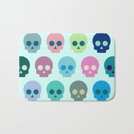 Colorful Skull Cute Pattern Bath Mat