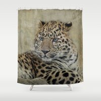 leo Shower Curtains featuring leo by lucyliu