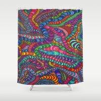 dr seuss Shower Curtains featuring Seuss by Francesca Antonet