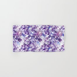 Dragonfly Lullaby in Pantone Ultraviolet Purple Hand & Bath Towel