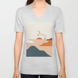 Cat Landscape 31C Unisex V-Neck