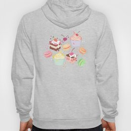 sweet pattern aka cake , cupcake and macaroon Hoody