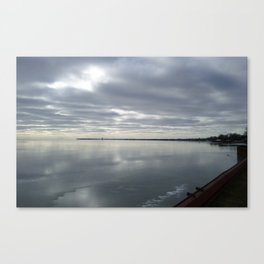 Icy Michigan Lake #3 Canvas Print