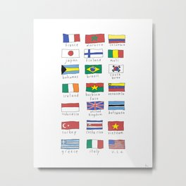 World traveler flags Metal Print