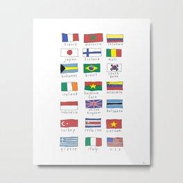 World traveler flags Metal Print
