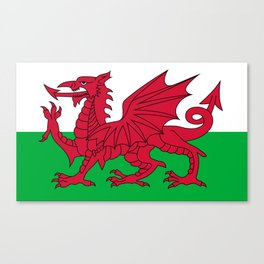 National flag of Wales - Authentic version Canvas Print
