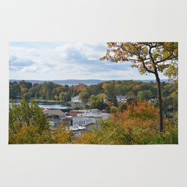 Harbor Springs Bay- View from Bluff-Fall-(1) Rug