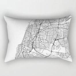 Tel Aviv Map White Rectangular Pillow