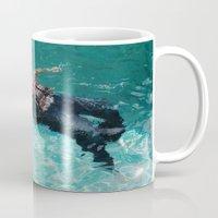 swimming Mugs featuring Swimming by Burdeinei + Dea