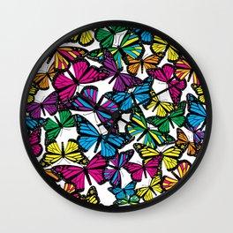 Vibrant Butterflies Wall Clock