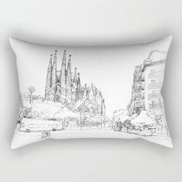 Sagrada Familia 2 Rectangular Pillow