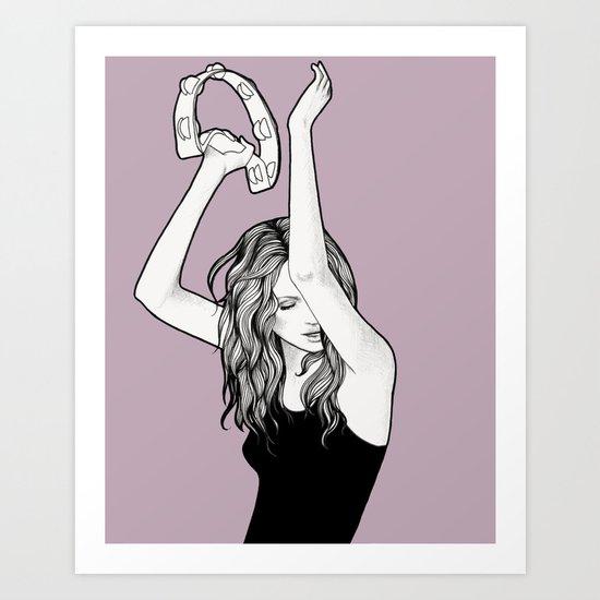 Ms. Tambourine Art Print