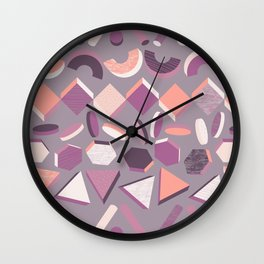 3D Geometry Stand in Line 1 Wall Clock