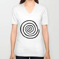fibonacci V-neck T-shirts featuring Fibonacci by Geryes