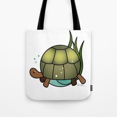 Turtle in a Circle Tote Bag