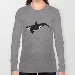 Killer Whale Headphones Long Sleeve T-shirt