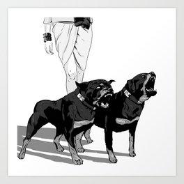 Fashion Rottweiler  Art Print