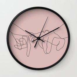 Blush Pinky Wall Clock
