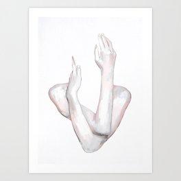 HANDS 8 Art Print