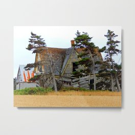 Abandoned Collapsing Homestead Metal Print