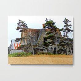 Abandoned Collapsing Homestead Metal Print