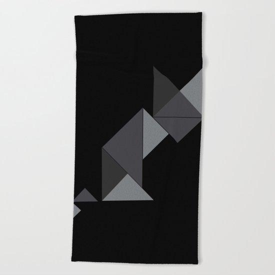 Le chat noir Beach Towel