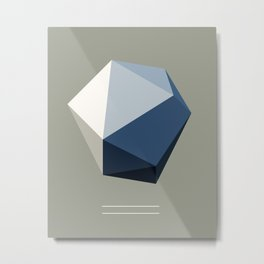 Minimal Geometric Polygon Art Metal Print